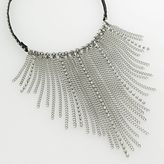 Simply vera vera wang silver-tone studded bib necklace
