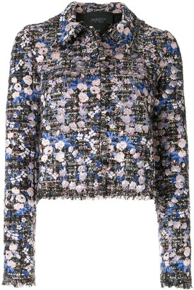 Giambattista Valli Boucle-Tweed Floral Jacket