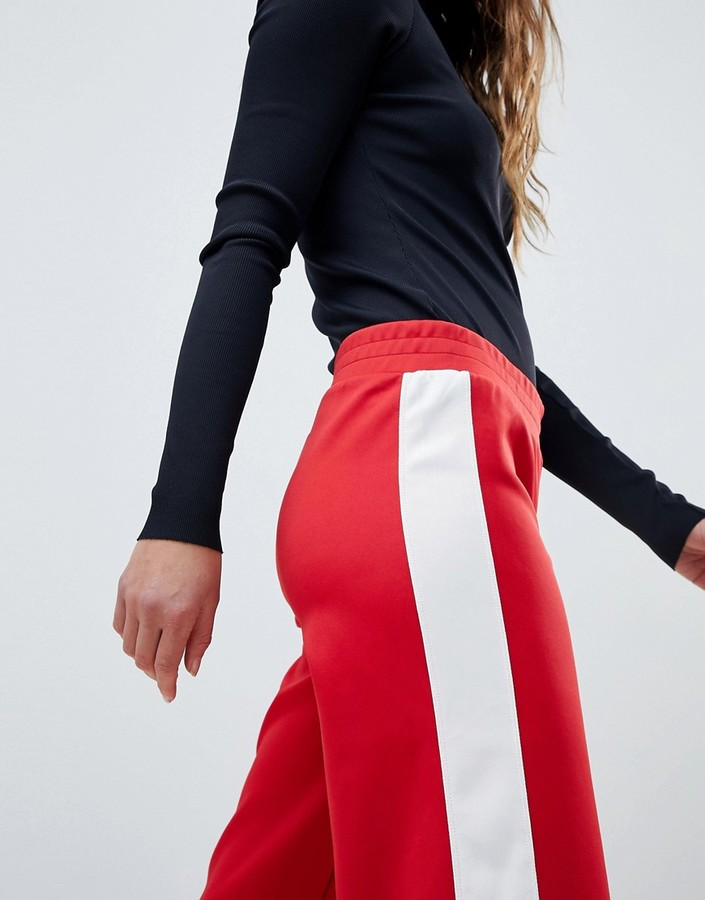 Thumbnail for your product : MinkPink Mink Pink Varsity Wide Leg Trackpant