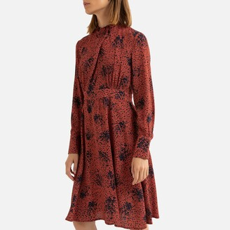 See U Soon Graphic Print Mini Dress with High-Neck