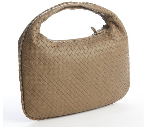 Bottega Veneta bronze intrecciato leather 'Veneta Effiloche' hobo