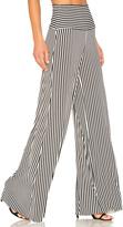 Norma Kamali Vertical Stripe Elephant Pant
