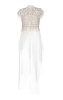 Dice Kayek Fringe And Tulle Top
