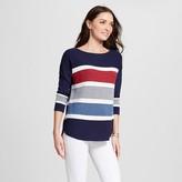 Jillian Nicole Women's Striped 3/4 Sleeve Pullover
