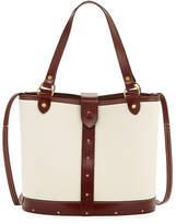 The Row Pail Denim & Wood Bucket Bag