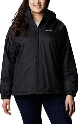 Columbia Plus Size Switchback Sherpa Lined Jacket (Black/Shark) Women's Coat
