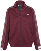 Adidas Originals By Alexander Wang - Embroidered Stretch-jacquard Jacket - Merlot