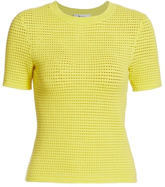 Milly Mesh Knit T-Shirt