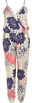 River Island Womens Beige floral print cami jumpsuit