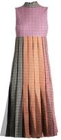 Christopher Kane Tulle-insert gingham cotton dress
