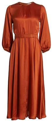 By Ti Mo Bytimo Desire Long-Sleeve Satin Dress
