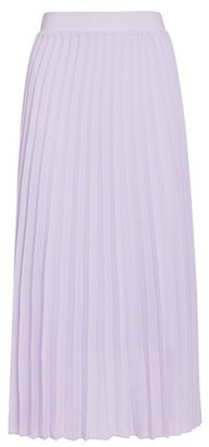 Dorothy Perkins Womens Lilac Pleated Midi Skirt