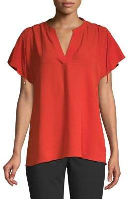 MICHAEL Michael Kors Lace-Up Sleeves Blouse