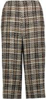 Valentino Cropped wool-blend tweed wide-leg pants