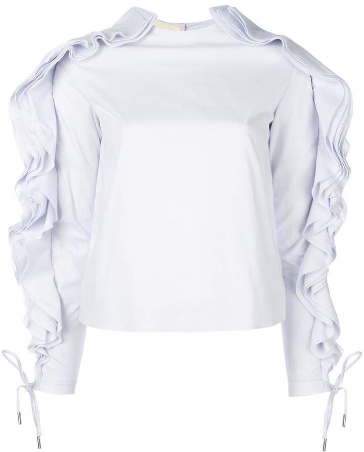 Antonio Berardi ruffle trim top