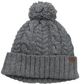 Timberland Women's Cable Knit Design Watch Cap Hat with Pom