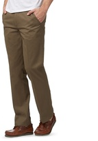 Maine New England Big And Tall Light Brown Tailored Fit Chino's