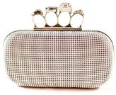 Natasha Couture Fashion Silver Skull Clutch