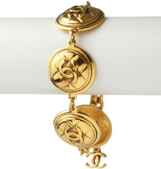 Chanel 5 Coin Quilted Logo Bracelet