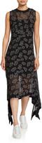 McQ Toshiko Seam Printed Asymmetrical Dress