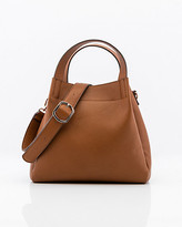 Le Château Pebbled Faux Leather Hobo Bag