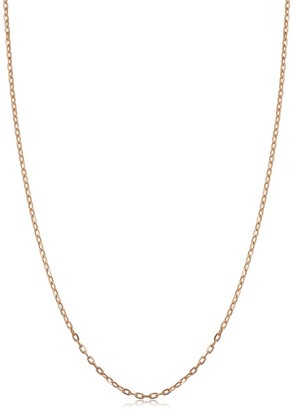 Fremada 14k Rose Gold 1 millimeter Cable Chain Necklace
