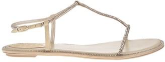 Rene Caovilla Beige amalia Flat Sandals