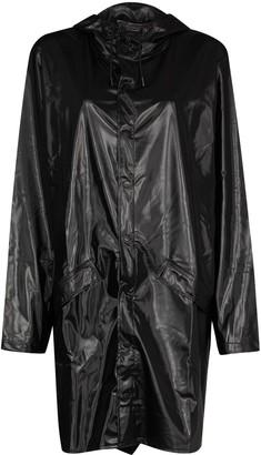Rains High-Shine Button-Up Raincoat