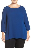 Sejour Zip Back Blouse (Plus Size)