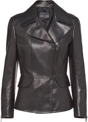 Prada Zip-Front Leather Jacket