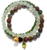 Satya Jewelry Gemstone Bead Bracelet Set