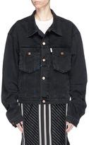 Aalto Frayed trim oversized denim jacket