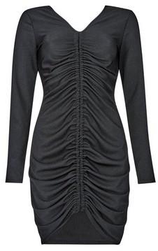 Dorothy Perkins Womens Lola Skye Black Ribbed Bodycon Dress, Black