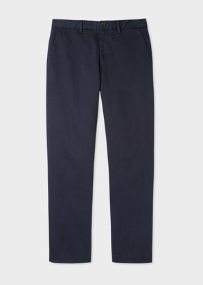 Men's Standard-Fit Navy Chinos