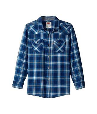 Levi's Kids Barstow Plaid Woven Top (Big Kids)