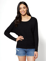 New York & Co. Lace-Up Sleeve Dolman Sweater
