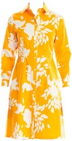 Carolina Herrera Collared Poplin Floral Shirtdress