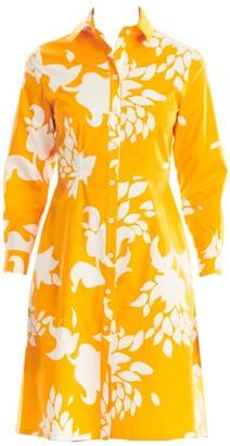 Carolina Herrera Collared Poplin Floral Shirtdress