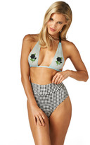 Montce Swim - Smell The Roses Private Beach Top X Gingham High Rise Bottom Bikini Set