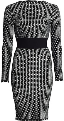 Herve Leger Jacquard Knit Dress