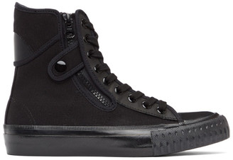 Regulation Yohji Yamamoto Black Canvas High-Top Sneakers