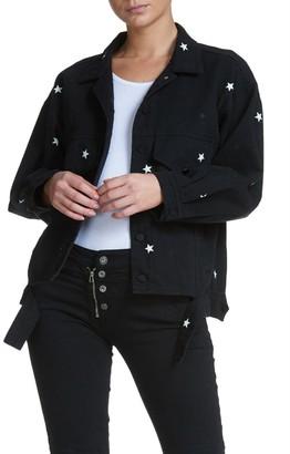 Elan International Star Print Button Down Jacket