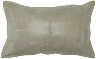 "Kosas Cheyenne 100% Leather 14""x26"" Throw Pillow by Home, Sandy Beige"