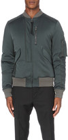 Lanvin Patchwork satin bomber jacket