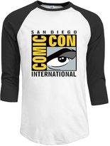 VFV2Q Men's San Diego Comic-Con International 2016 3/4 Sleeve Raglan Baseball T-shirt S