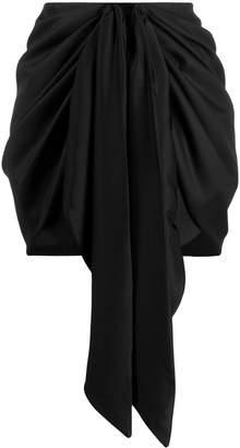 Magda Butrym Yokohama front-tie mini skirt