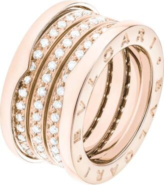 Bvlgari Rose Gold and Diamond B.Zero1 Ring