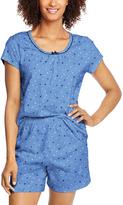Hanes Blue Dot Pajama Shorts Set