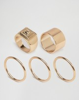 Asos Pack of 4 Pyramid Rings