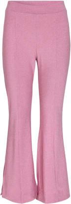 Stine Goya Melanie Glitter Cropped Flared Pants